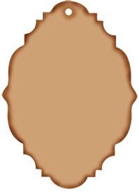 Anhänger vintage oval / vintage tag 0834