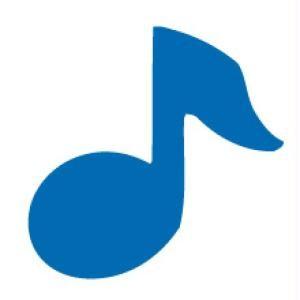Motivstanzer medium Musik-Note VIHCP242 ( blau )