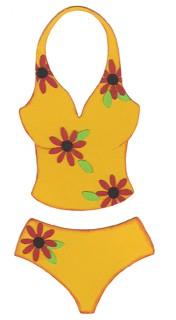 Badeanzug / swim suit 0657