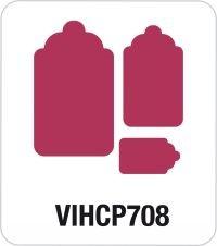 Motivstanzer Giant Anhänger 3-er VIHCP708 ( rosa )