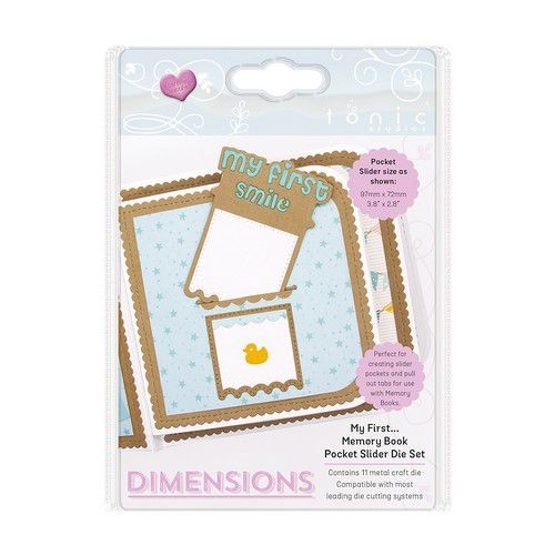 Tonic Studios Stanzform Dimensions My First ... Memory Book Pocket Slider 2507E
