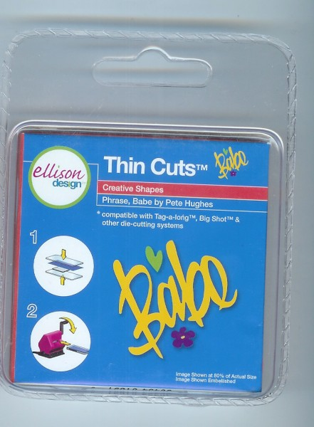 "Ellison Designs Thin Cuts Stanzform Wort "" Babe "" / babe 22007"