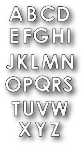 Memory Box Stanzform Alphabet Soup Uppercase 99154