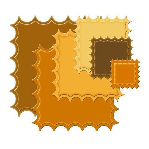 Classic Quadrat umgekehrt groß gewellt S4-196