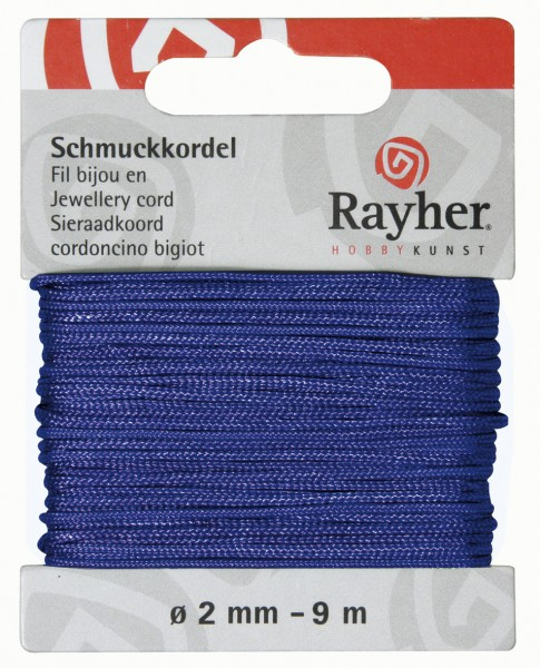 Schmuckkordel 2 mm MITTEL - BLAU 89-569-09