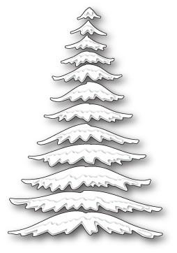 Memorybox Stanzform Kiefernzweige mit Schnee / Marvelous Pine Snowy Branches 99496