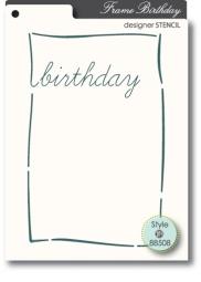 Memory Box Stencil Birthday 88508