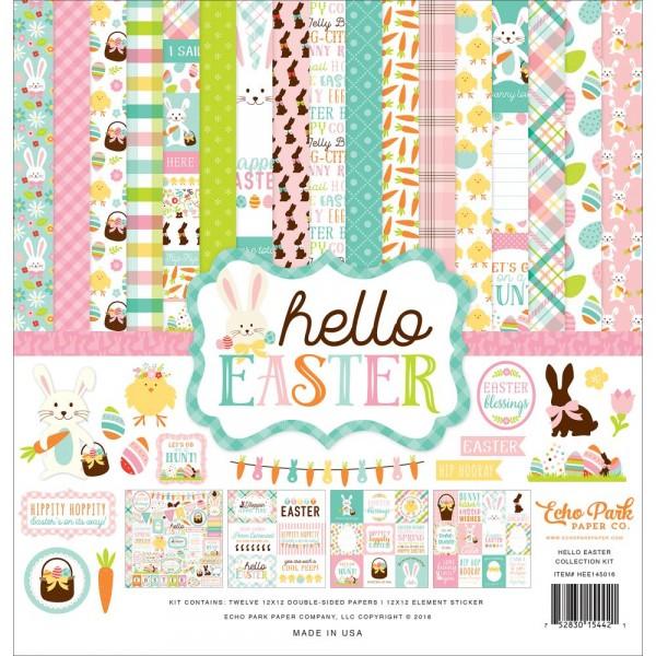 "Echo Park Paper Paperkit 12 "" x 12 "" Hello Easter HEE145016"
