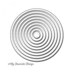 Dienamics Stanzform Kreise gestickt / Stitched Circles MFT-388