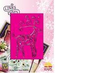 Nellie Snellen Metall-Prägeschablone Rentier LD001 ( pink )