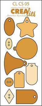 Crealies Stanzf.Creative Shapes # 5 Etiketten & Knöpfe CLCS-05 (
