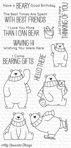 My Favorite Things Clear Stamps Polar-Bären / Polar Bear Pals BB-40