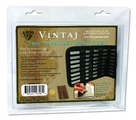 Vintaj Alphabet-Set 3 mm Prägestempel / Punch-Set V-LPS002