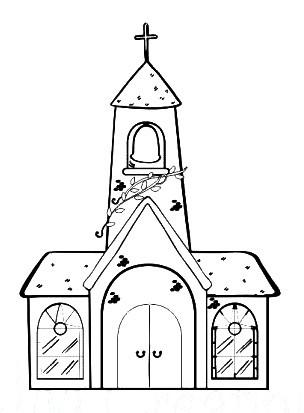 JM-Creation Stempelgummi Kirche klein 20921