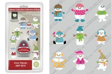 Cricut Cartridge Solution Seasonal snow friends 20-0050