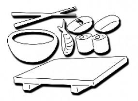 Frantic Stampers Stanzform Sushi-Geschirr / Sushi Dinner FRA-DIE-10061