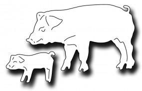 Frantic Stampers Stanzform Schwein u. Ferkel / Sow and Piglet FRA-DIE-09976