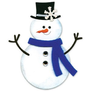 Sizzix Stanzform Originals LARGE Schneemann # 2 / snowman # 2 655399