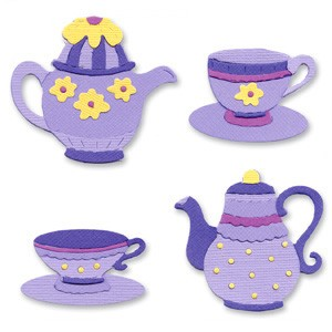 Sizzix Stanzform Sizzlits SMALL 4-er Set Sizzlits 4-er Tea Time 654787