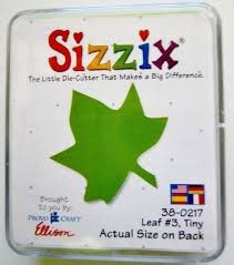 Sizzix Stanzform Original SMALL Blatt # 3 klein / leaf # 3 tiny 38-0217