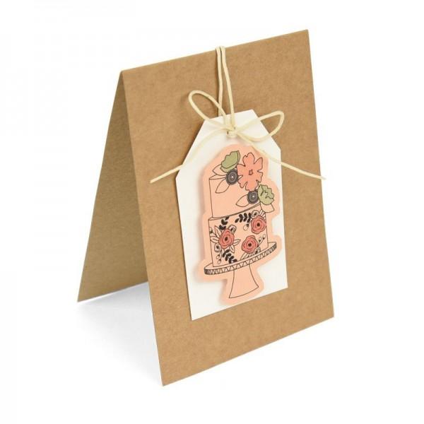 Sizzix Thinlits Stanzform u. Clearstempel Torte / Floral Cake 662167