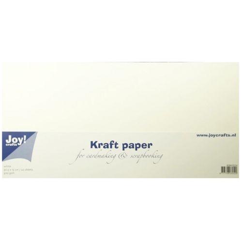 Joycrafts Kraftpapier 15 cm x 30,5 cm WEISS 8089/0234