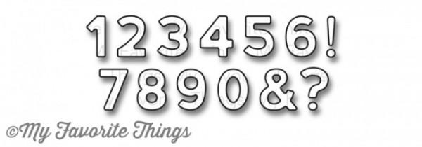Dienamics Stanzform Zahlen & Zeichen / Bottlecap Numbers MFT-753