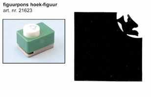 Vaessen Eck-Motivstanzer Taube 21623-957 ( grün )