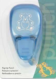 EK Success Hebel-Motivstanzer medium Pop-Up Teddy Bear PSM131C (