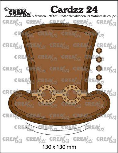 Crealies Stanzform Steampunk Hut u. Brille CLCZ24