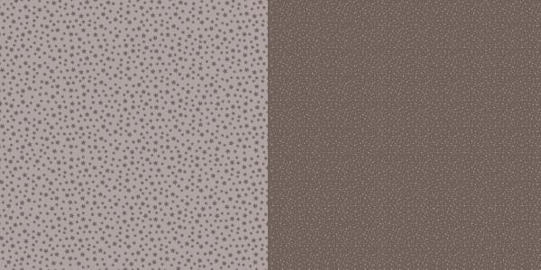Dini Design Scrapbook-Papier Punkte / Blumen Mokkabraun ( dunkel-braun ) 2009