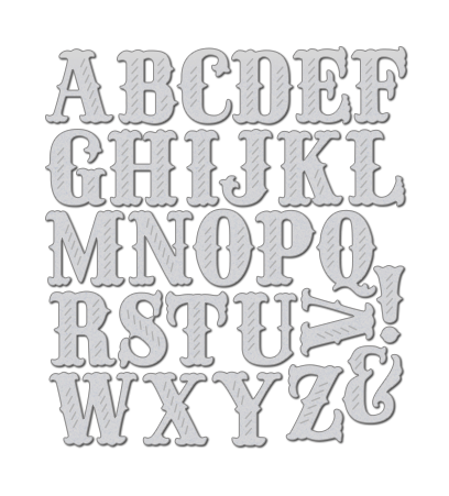 WPlus9Design Stanzform Folk Art Alphabet WP9D-050