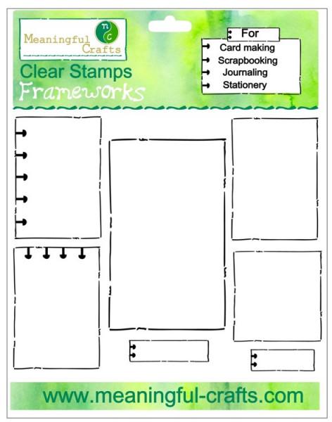 Meaningful-Crafts Clearstempel-Set Frameworks MC2210175