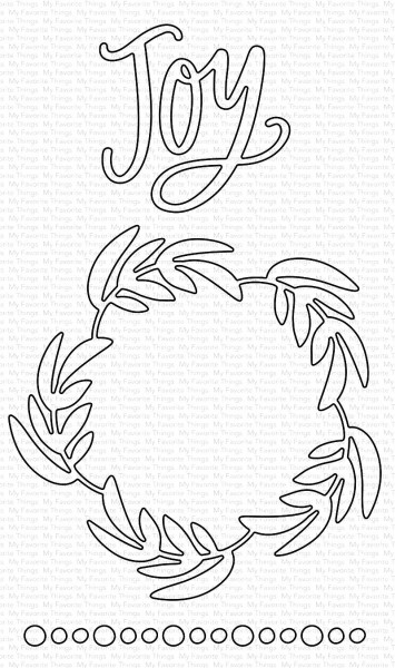 Dienamics Stanzform ' Joy ' u. Kranz / Joyful Wreath MFT-1608