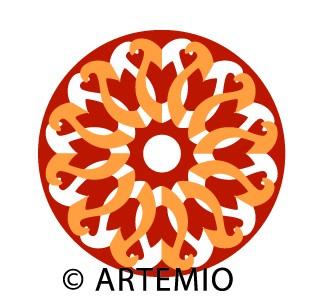 Artemio Happycut Stanzform 6,8 x 6,8 cm Cut & Fold Blume # 6 18022002