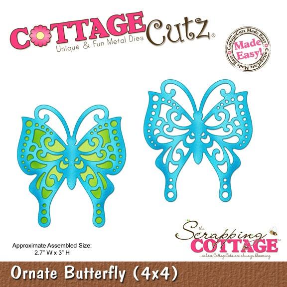 Schmetterling kunstvoll / ornate butterfly SC-CC4x4-336