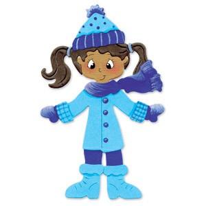 Sizzix Stanzform Originals LARGE Winterkleidung / winter clothes 655027