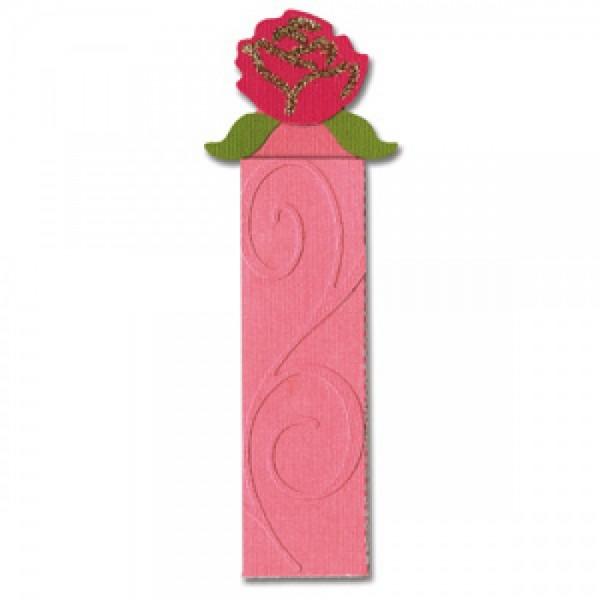 Sizzix Stanzform Sizzlits Border Tasche u. Anhänger mit Rose / pocket & tag w/rose 654831