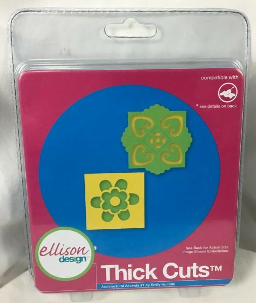 Ellison Design Thick Cuts Stanzform Ornamente # 1 / architectural accents # 1 22782