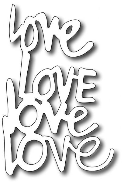 """Frantic Stamper Stanzform """" Love """" / Quad Love FRA-DIE-09323"""