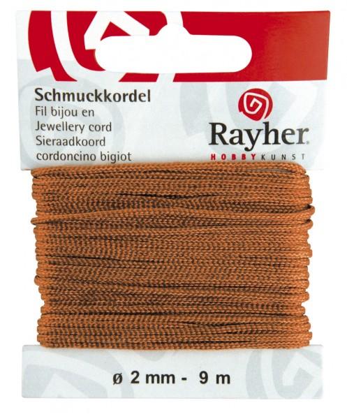 Rayher Schmuckkordel 2 mm KASTANIE 89-569-64
