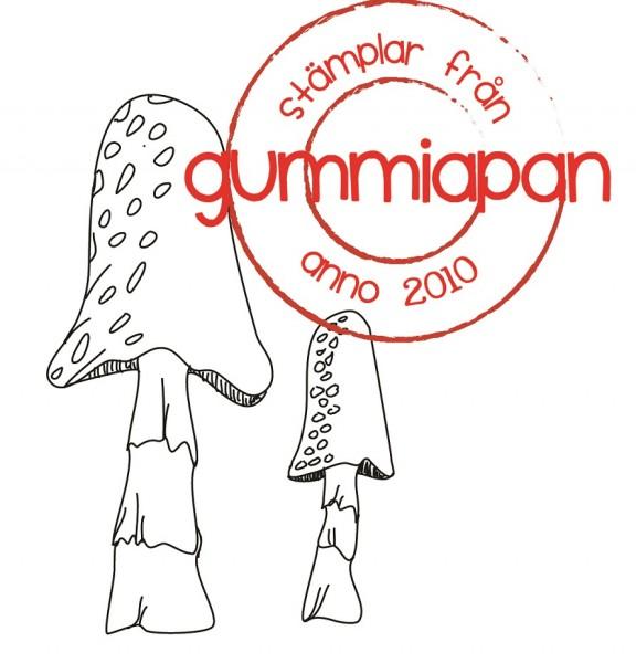 Gummiapan Stempelgummi Pilze / Bläcksvamp 19080303