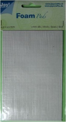 Klebepads WEISS Quadrate 2,5 x 2,5 mm x Dicke 0,5 mm 6500/0010