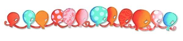Border Luftballons / balloons 656 104