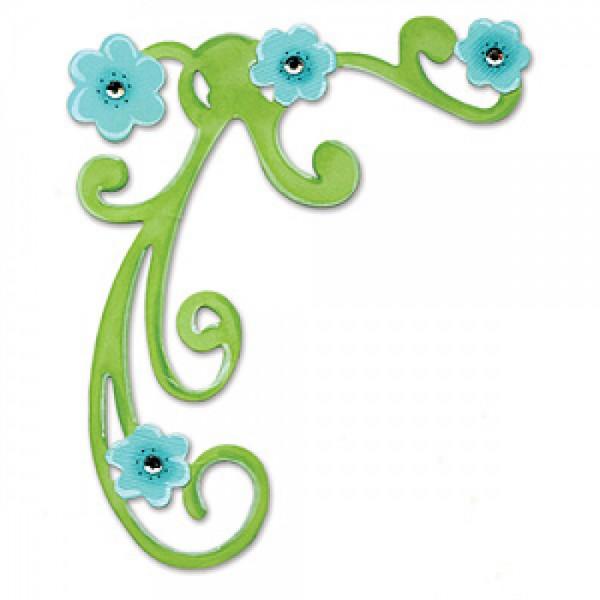 Sizzix Stanzform BIGZ Ecke floral / corner flourish 655962