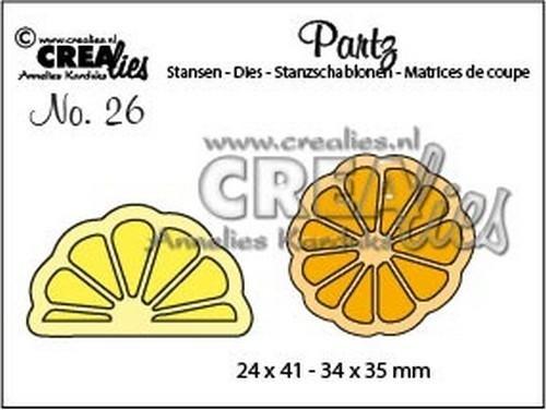 Crealies Partz Nr.26 Zitronenscheibe CLPartz26