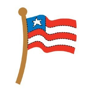 AccuCut Zip' e Slim Stanzform Amerikanische Flagge / american flag 41397