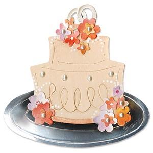 Sizzix Stanzform BIGZ Hochzeitstorte / wedding cake 655462
