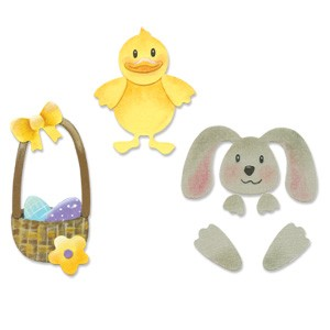 Sizzix Stanzform Sizzlits SMALL 4-er Set Osterset / Easter set 655309
