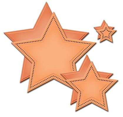 Spellbinders Stanz-u. Prägeform Sterne gepunktet / Pierced Stars SCD-024 / 4292408